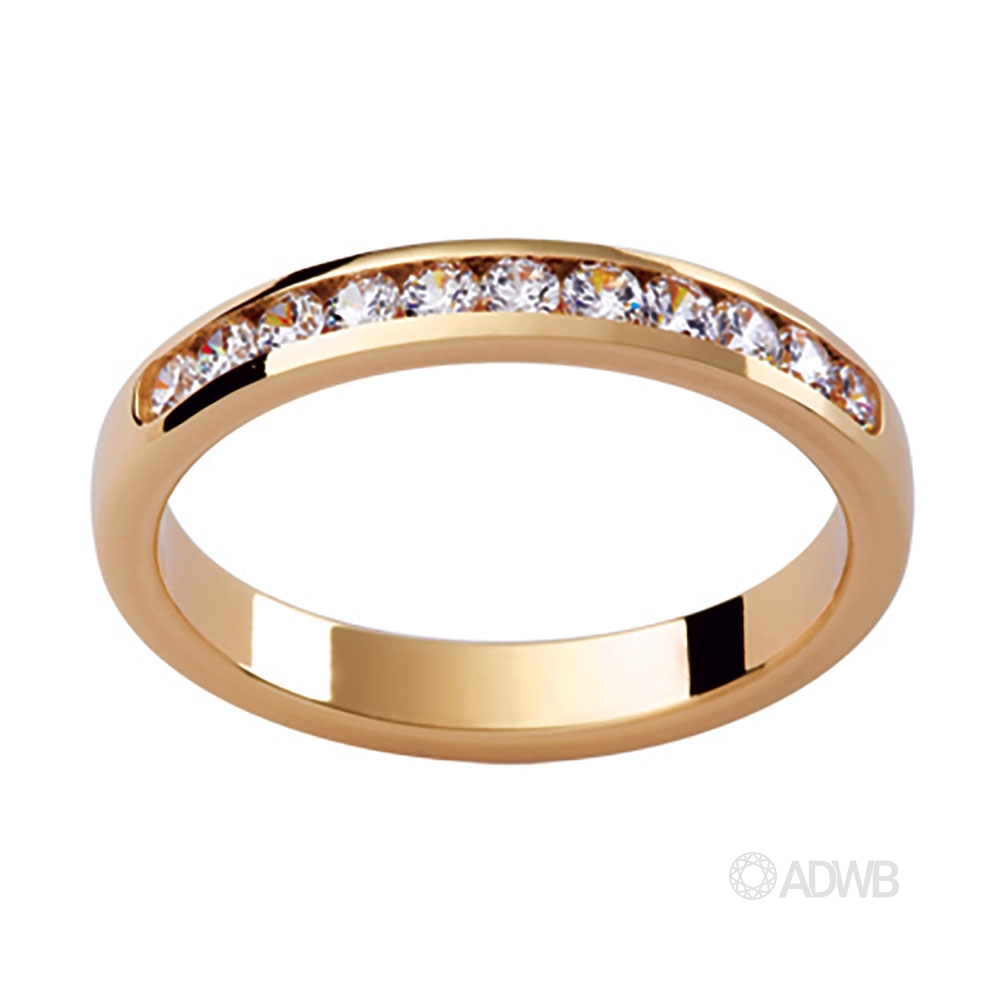 Australian Diamond Broker - Daphne 18ct Channel Set Diamond Wedding Ring