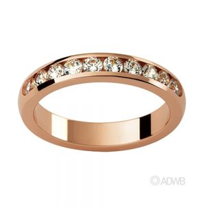 Australian Diamond Broker - Marise 18ct Rose Gold Diamond Wedder