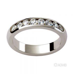 Australian Diamond Broker - Aurora 18ct White Gold Wide Diamond Wedder