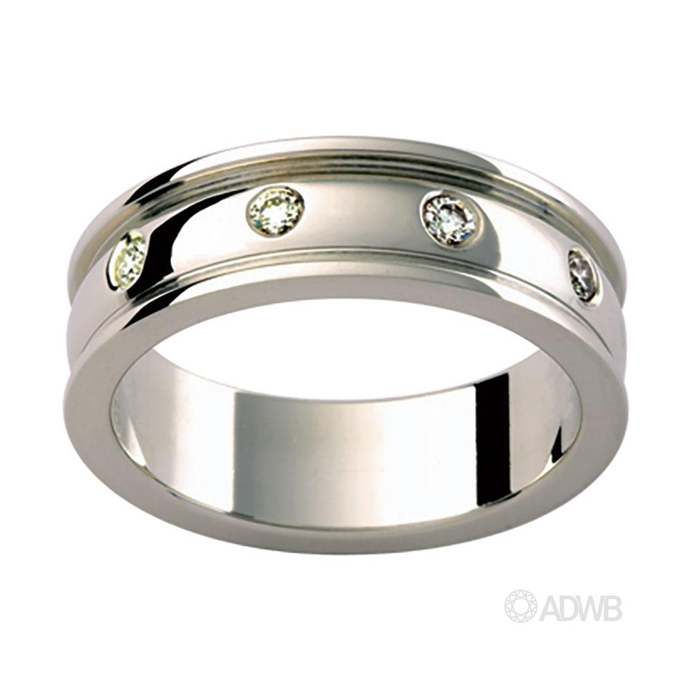 Australian Diamond Broker - 18ct White Gold Diamond Set Band