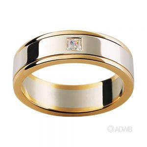Australian Diamond Broker - 18ct White & Yellow Gold Diamond Set Band
