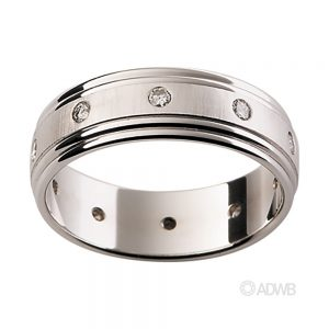 Australian Diamond Broker - 18ct White Gold Diamond Set Band