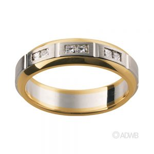 Australian Diamond Broker - 18ct White and Yellow Gold Diamond Set Band