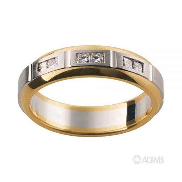 Australian Diamond Broker - 18ct White and Yellow Gold Diamond Set Band