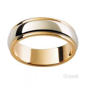 Australian Diamond Broker - 18ct White and Yellow Gold Band