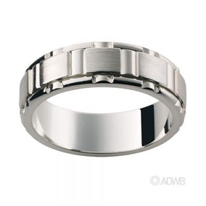 Australian Diamond Broker - 18ct white gold cut out groove band