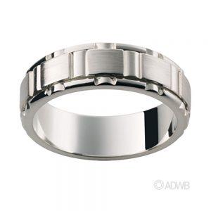 Australian Diamond Broker - 18ct white gold cut out groove band