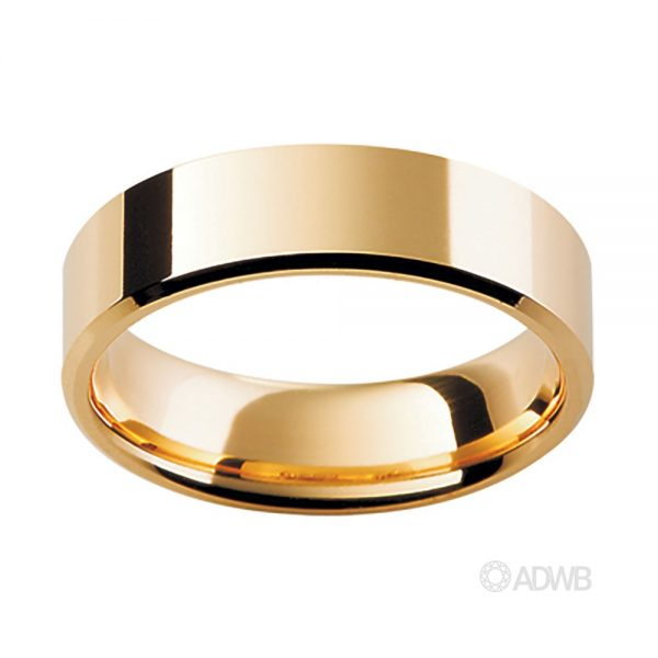 Australian Diamond Broker - 18ct Yellow Gold Fine Traditional Flat Band