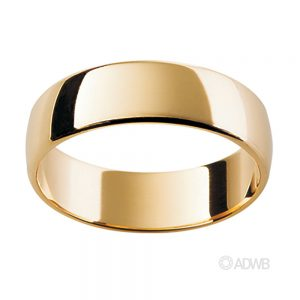Australian Diamond Broker - 18ct Yellow Gold Tradition Half Round Band