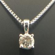Australian Diamond Broker - 18ct white gold 4 claw classic diamond pendant