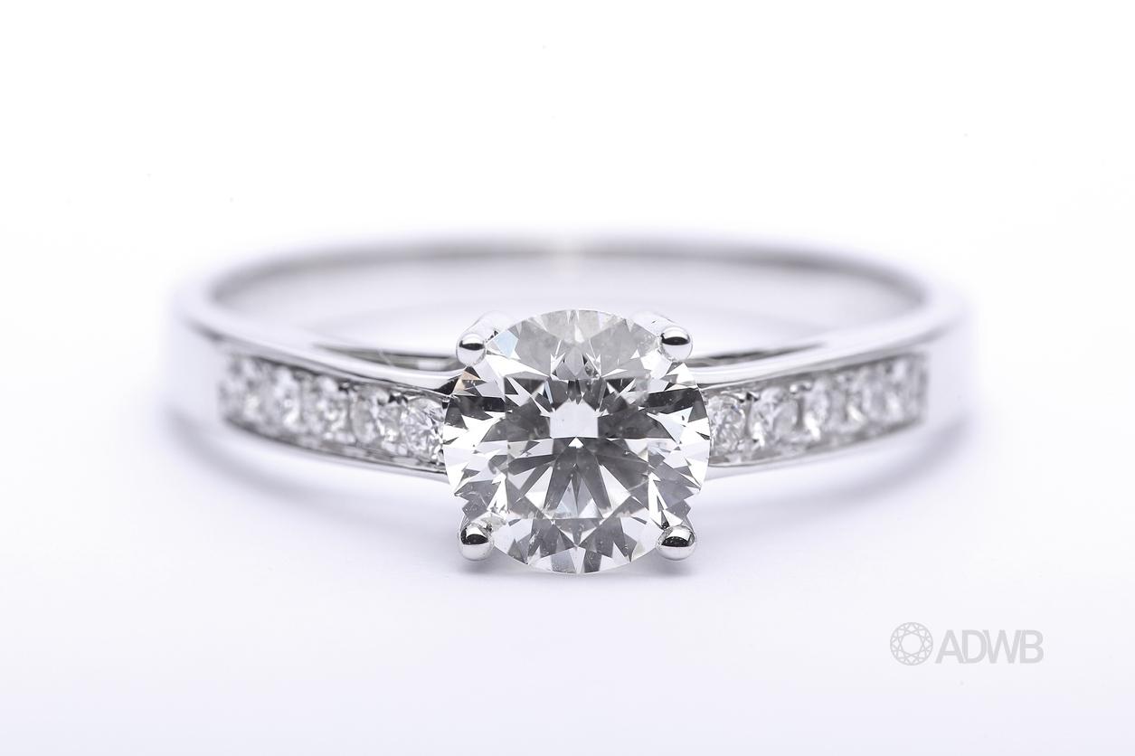 Micro-pave diamond ring